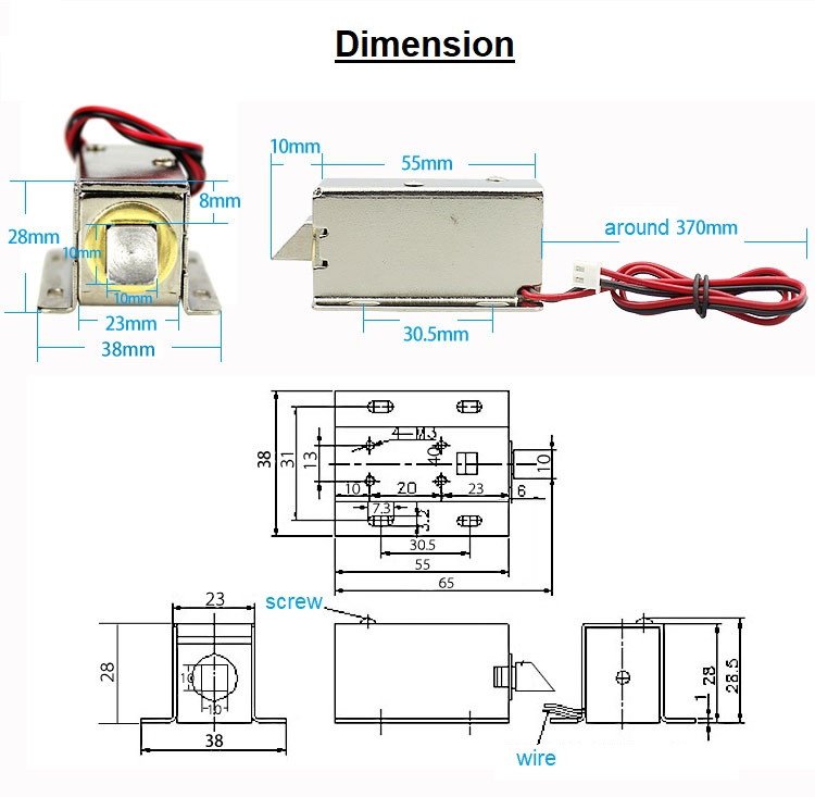 Solenoid Lock Dimension